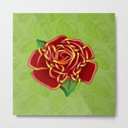 Celtic Knot Rose Metal Print