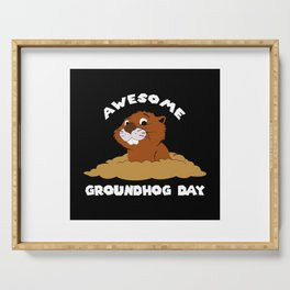 Awesome Groundhog Day - Holiday Celebration Gift Serving Tray