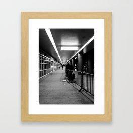 LGA Black & White Framed Art Print