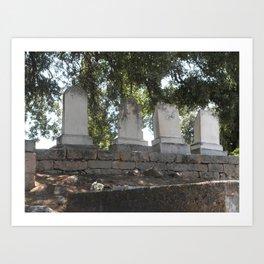 Mokelumne Hill Pioneer Cemetery Art Print