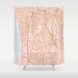 Beirut map Shower Curtain