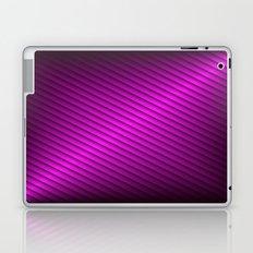 Purple Oblique Stripes Laptop & iPad Skin