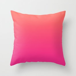 Coral Bright Pink Ombre Gradient Pattern Orange Peachy Soft Trendy Texture Throw Pillow