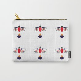 Flying Birds Gold Red Blue and Green Carry-All Pouch