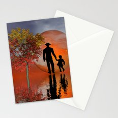 sky is on fire and I must go Stationery Cards