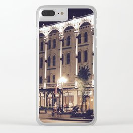Saratoga Springs at Night Clear iPhone Case