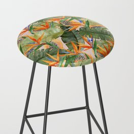 Birds of Paradise Bar Stool