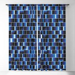 Blue set of tiles Blackout Curtain