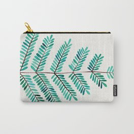 Turquoise Leaflets Carry-All Pouch