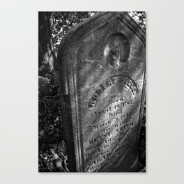 In Death Canvas Print