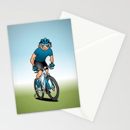 MTB - Mountain biker in the mountains Stationery Cards
