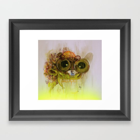 Weedy Playstation Frankenstein Framed Art Print