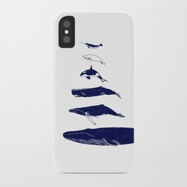 Whale Art - Narwhal / Beluga / Killer Whale Orca / Humpback / Sperm / Blue iPhone Case