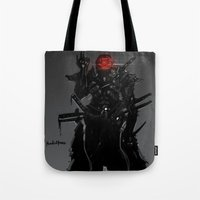 suit Tote Bags featuring ShadowBlade Suit by Benedick Bana