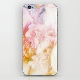 Style on a bed of peonies iPhone Skin