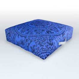 Sapphire Mandala Outdoor Floor Cushion