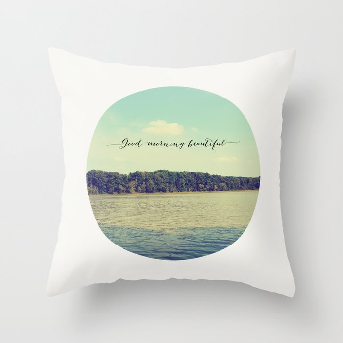 Good Morning Beautiful Nature Photograph Throw Pillow By Allyjcat