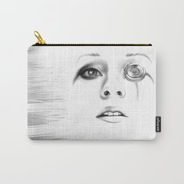 Sci-fi minimalist portrait of a woman digital painting Carry-All Pouch