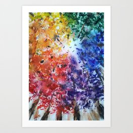 Rainbow Fall Art Print