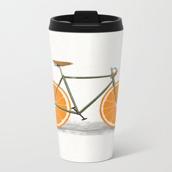Zest (Orange Wheels) Metal Travel Mug