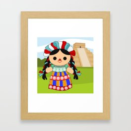 Maria 6 (Mexican Doll) Framed Art Print
