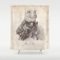 John T. Rex Shower Curtain