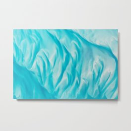 On board the International Space Station NASA astronaut Scott Kelly captured this blue water image Metal Print