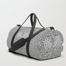 Ultimate heart maze in black Duffle Bag