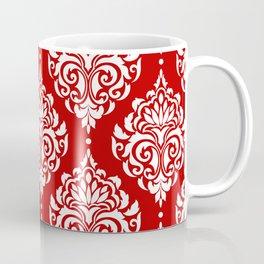 Red Damask Coffee Mug