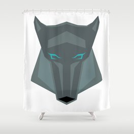 Poly-Wolf Shower Curtain