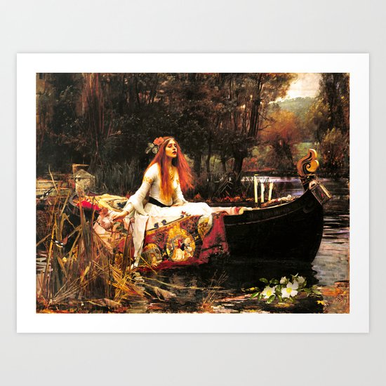 The Lady of Shalott Remastered Art Print