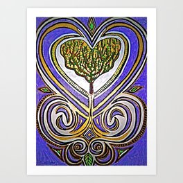 I Heart Trees Art Print