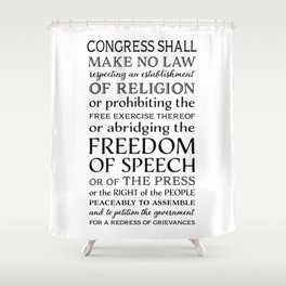 First Amendment Fundamental Freedoms Shower Curtain
