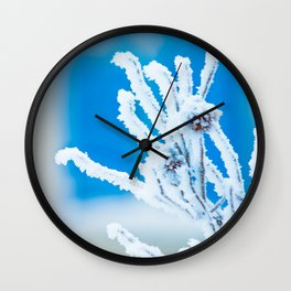 Frozen branch Wall Clock