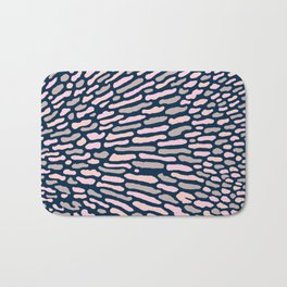 Organic Abstract Navy Blue Bath Mat