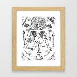 2013 Goddess of Balance (white design) art by Marcellous Lovelace Framed Art Print
