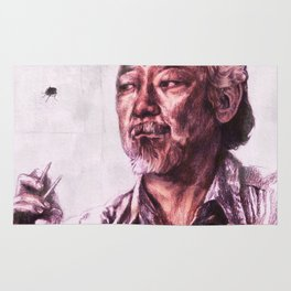 Mr. Miyagi from Karate Kid Rug