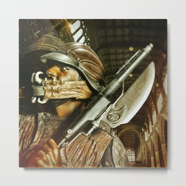 Knife Guy Protects His Dentures Metal Print