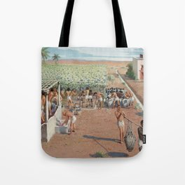 Classical Masterpiece Egyptian Laborers Harvest Grapes by Herbert Herget Tote Bag