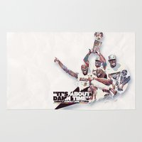 nba Area & Throw Rugs featuring Lebron//NBA Champion 2012 by Largetosti