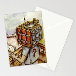 """Cubical"" Stationery Cards"