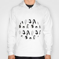 kardashian Hoodies featuring Keeping Up (Black and White) by Shany Atzmon