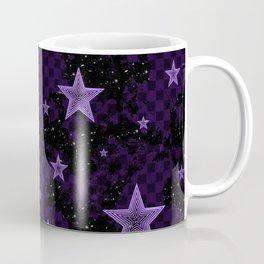 Purple Neon Stars Coffee Mug
