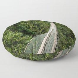 Capilano Suspension Bridge Floor Pillow