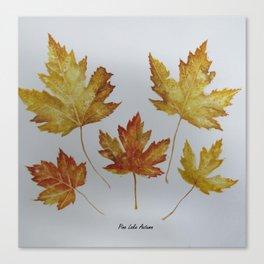 Woodward Autumn Walk-Pine Lake Canvas Print