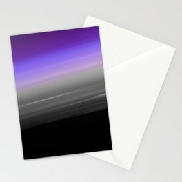 Purple Gray Black Smooth Ombre Stationery Cards
