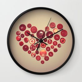 Button Love Wall Clock