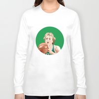 larry Long Sleeve T-shirts featuring Larry Bird by AkidNamedWalter