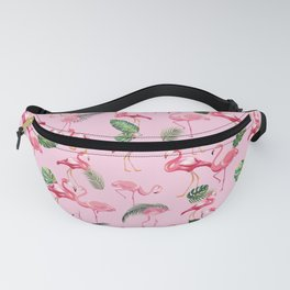 Flamingos Love Pattern 2 Fanny Pack