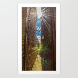 Peek Down the Alley Art Print